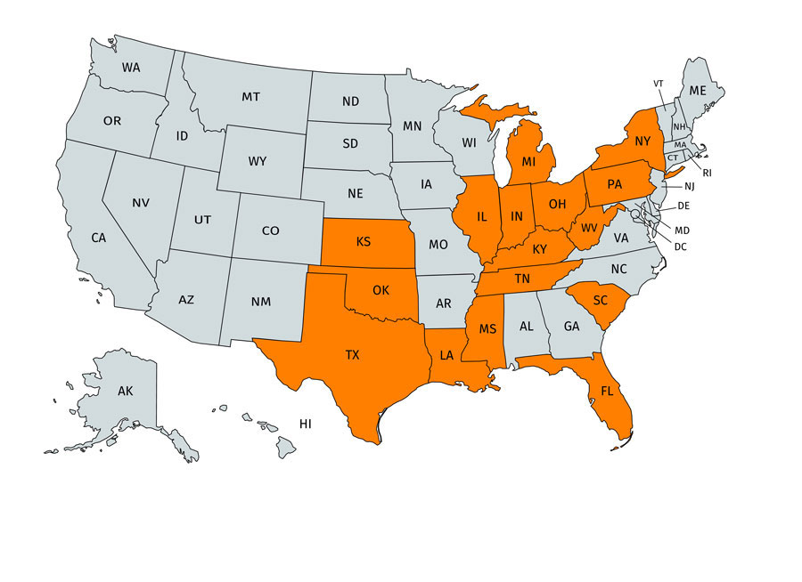 Map of the States